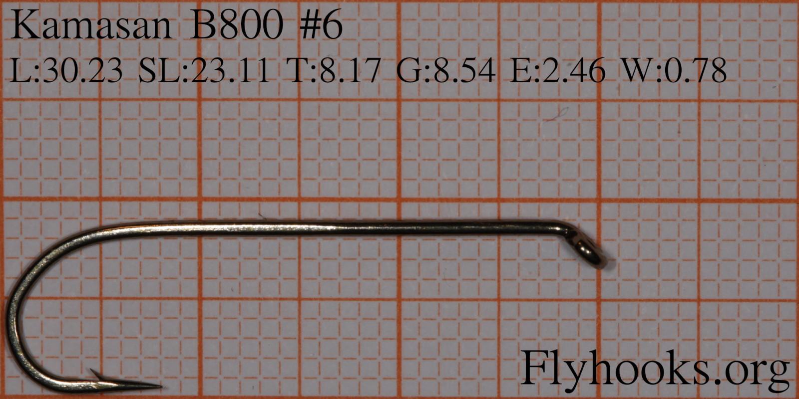 #6 Fly Hooks 25 Pack Kamasan B800 Round Bend Lure